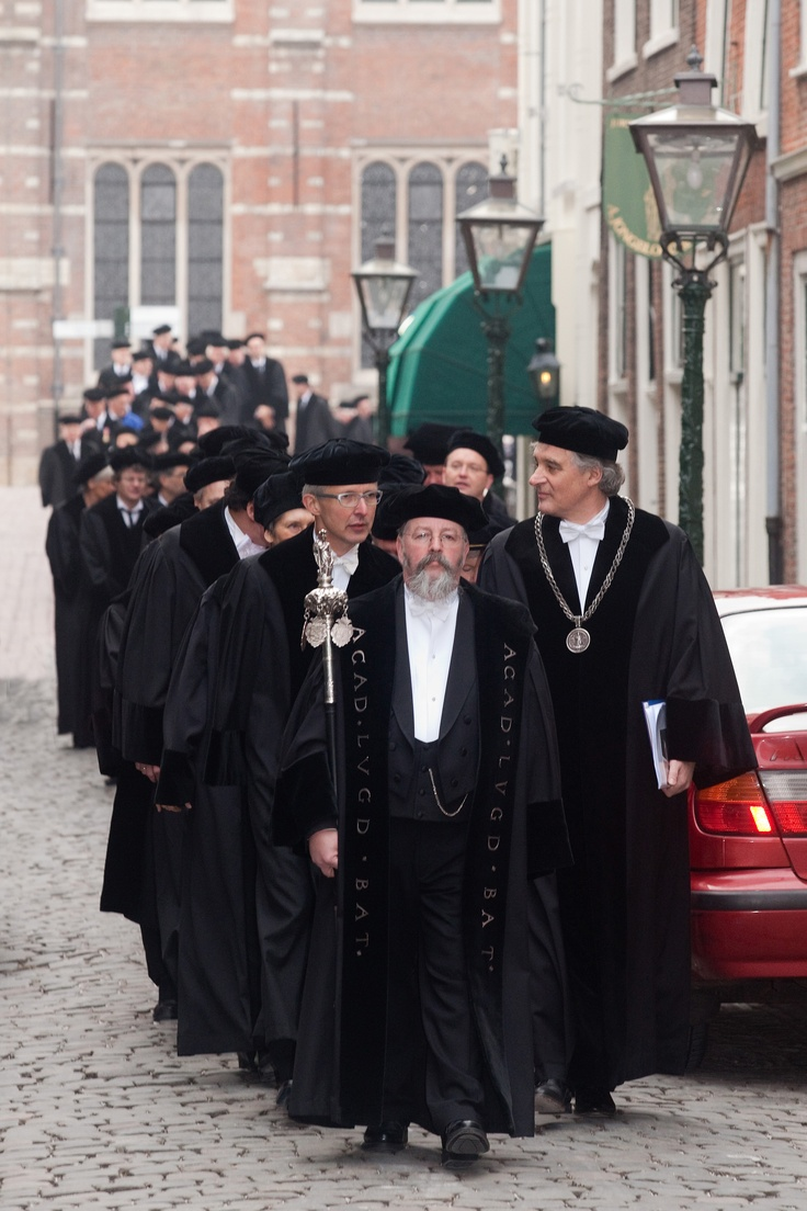 Dies Natalis, The procession of professors on the Foundation Day anniversary of Leiden University, 8 February 1575.