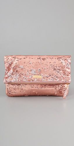 Jenny Fold Clutch: Pink Sparkly, Pink Sparkle, Pink Clutches, Halston Heritage, Gold Clutches, Jenny Folding, Pink Toms, Folding Clutches, Rose Gold