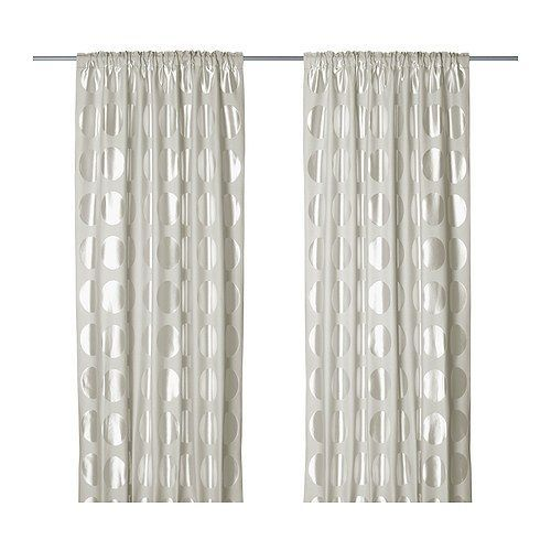 NINNI RUND Curtains, 1 pair - IKEA