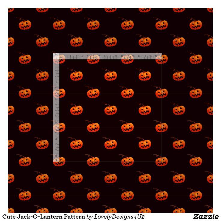 Cute Jack-O-Lantern Pattern Fabric