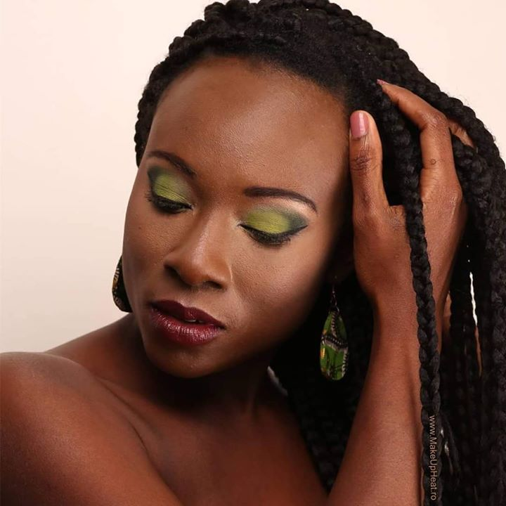 Emerald makeup trending now. #nofilter This is my first time putting makeup on black skin and the green eyeshadow was actually the second color option I used. And I can say the result is amazing.   Stay tuned to see the others. Hope you all enjoy this makeup look. Follow me @alina11anton  Model: Amon F-K @kika_shoolamon  Makeup: Alina Anton for MakeUp Heat  Photo: Alex Lungu for Alex Lungu Photography @alexlungu1  #emerald #eye #trending #black #skin #green @maccosmetics  #eyeshadow…