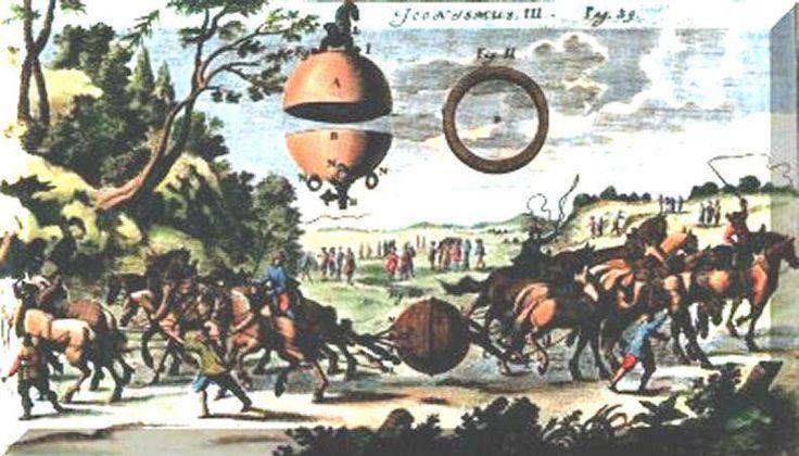 1660 Otto von Guericke invents machine that produces static electricity electricidad estática, Otto von Guericke, máquina