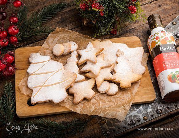 Творожное печенье «Рождественское». Ингредиенты: сливочное масло, абрикосовое варенье , творог