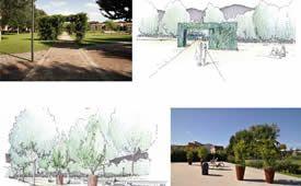Schizzi di studio del Parco S.Anna