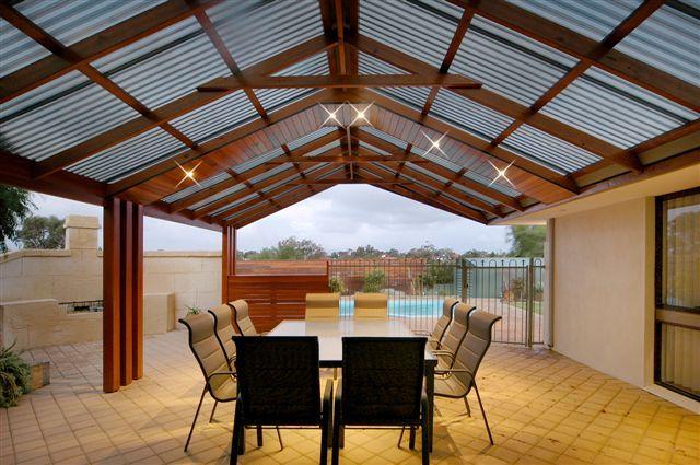 Gable timber patio alfresco