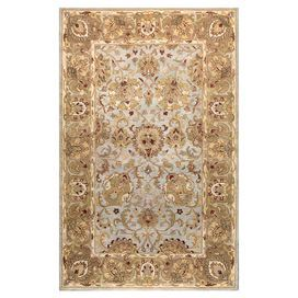Hand-tufted New Zealand wool rug with a Persian-inspired botanical motif.   Product: RugConstruction Material: New Zealand blended woolColor: Light blueFeatures: Hand-tuftedNote: Please be aware that actual colors may vary from those shown on your screen. Accent rugs may also not show the entire pattern that the corresponding area rugs have.