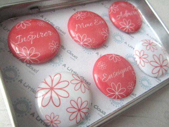Custom Magnet Teacher Gift Set in french or english