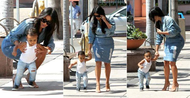 Filha de Kim Kardashian e Kanye West dá os primeiros passos