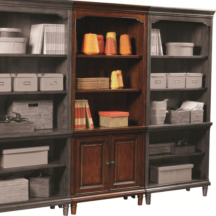 Traditional Door Bookcase With 2 Doors And 3 Adjustable Shelves By  Aspenhome   Stoney Creek Furniture   Bookcase   2 Pc. With Hutch Toronto,  Hamilton, ...