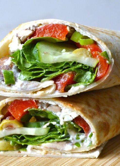 Low FODMAP & Gluten free Recipe - Roasted pepper & feta wraps  - http://www.ibssano.com/low_fodmap_recipe_roasted_red_pepper_feta_wraps.html