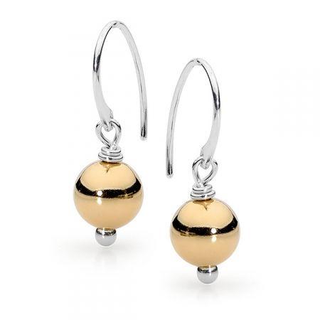 Gold fill ball earrings