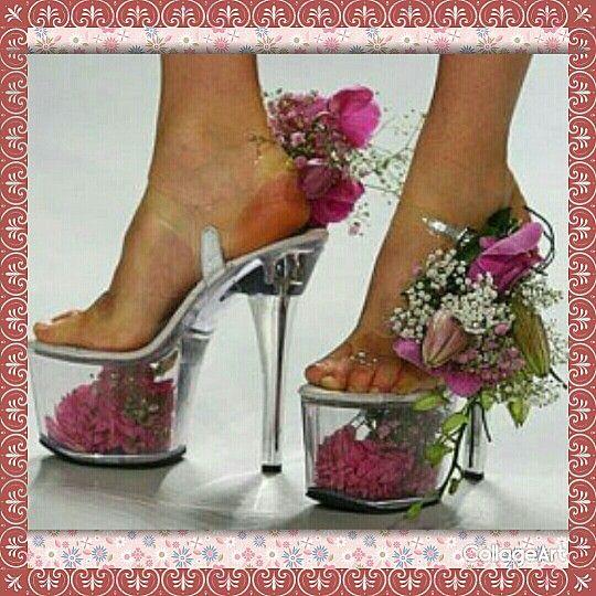 Unique flower heels