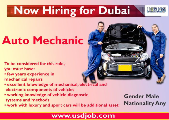 Auto Mechanic Jobs In Dubai Mechanic Jobs Car Mechanic Mechanic