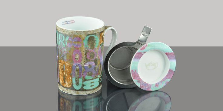 Mug Cylinder Numbers Silver
