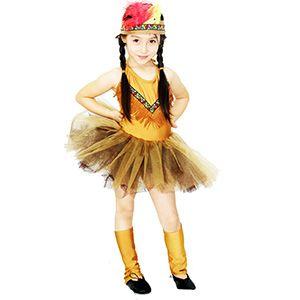 Kızılderili Balerin Kız Çocuk Kostümü 7-9 Yaş, doğum günü tütü