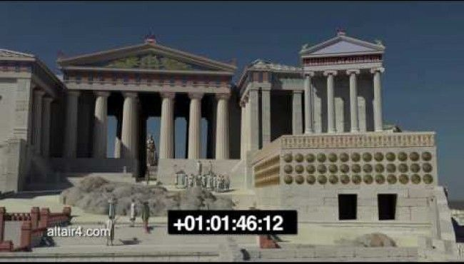 3D παρουσίαση των επιβλητικών ακροπόλεων που μας περέχει μια γεύση από την ελληνική αρχιτεκτονική που εκτείνεται σε όλη την Μεσόγειο
