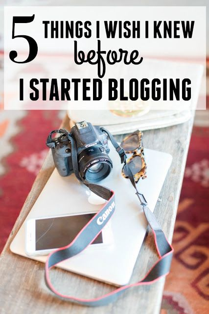 5 Things I Wish I Knew Before I started Blogging. 5 lessons I learned the hard way after three years of blogging but you don't have to