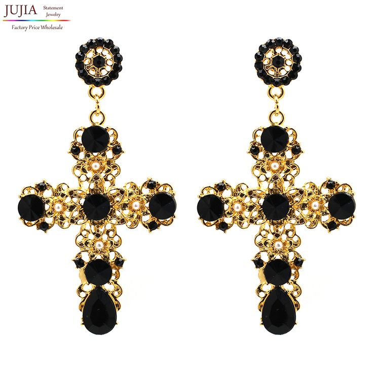 New Arrival fashion women big vintage statement  Earrings for women lady girl party stud earring Factory Price