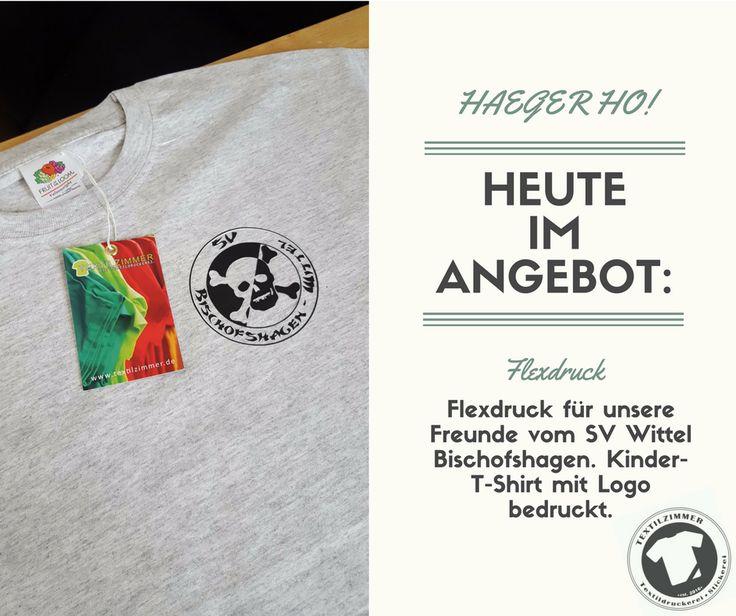 #HAEGERHO! Für unsere Freunde vom SV #Wittel #Bischofshagen durften wir diesen Mal ein #Einzelstück anfertigen. HAEGER-Logo auf #Kinder-#T-Shirt. Viel #Spaß damit!  #textilzimmer #herford #flexdruck #flockdruck #textildruck #textildruckerei #ausleidenschaft #leidenschaft #stick #textilstickerei