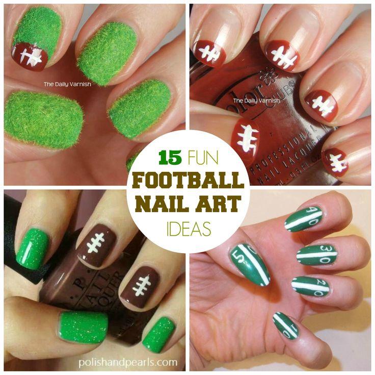 15 Fun Football Nail Art Designs - Best 25+ Football Nail Art Ideas On Pinterest Football Nail