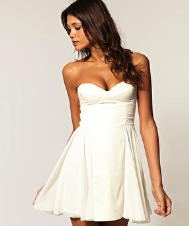Little White Cocktail Dress