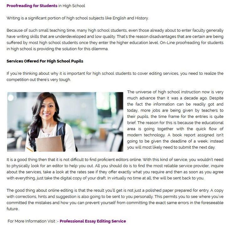 Admission essay editing service english