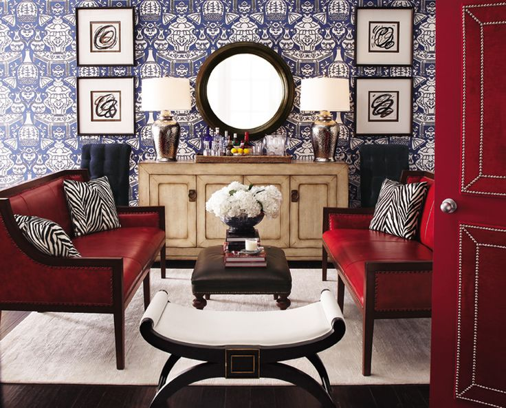 stool: Red Doors, The Doors, Color, Blue, Rooms Ideas, Living Rooms Furniture, Design, Red Rooms, Red Leather Sofas