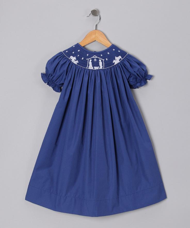 Itsy Bitsy Navy Nativity Bishop Dress