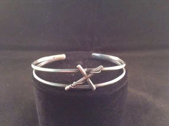 Sterling silver cross bracelet by ArtisanJewelryWorks on Etsy