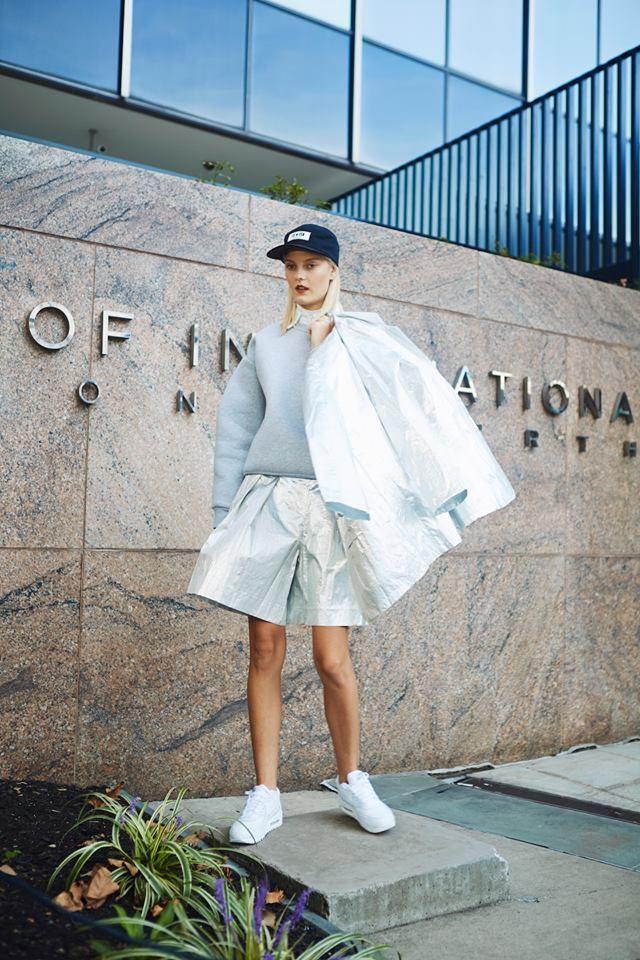 #visuals – Sarah F. at Wilhelmina Models photographed by Shirley Yu Photography on www.sickymagazine.com · Fashion Lotte Sindahl · Hair Bennett Grey · Make-Up Mariko Tamegai · Production Assistant Sreya Sinha