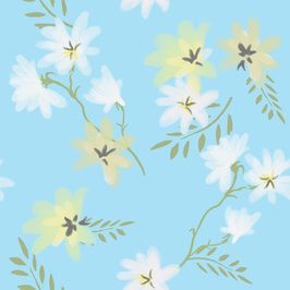 Misty Blue by Beverley Summerlin Seamless Repeat  Royalty-Free Stock Pattern