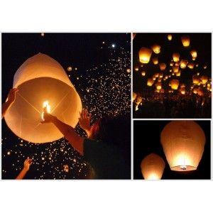 For a magic night ! set of 10 sky lanterns - Le Repère des Belettes
