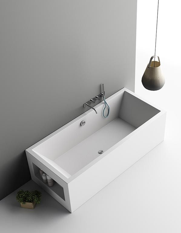 aquarius is the made to measure corian bath tub with a linear - Corian Dusche Osterreich