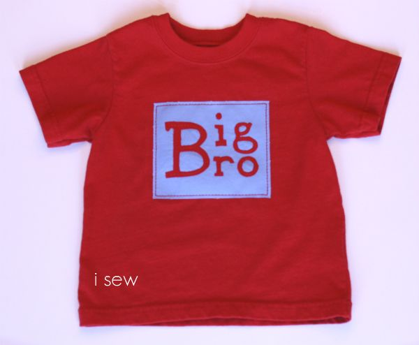 An idea on how to make big brother shirts