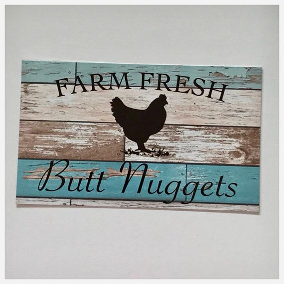 Chicken Flockers Eggs Sign Rustic Wall Plaque or Hanging Country Rooster Hen