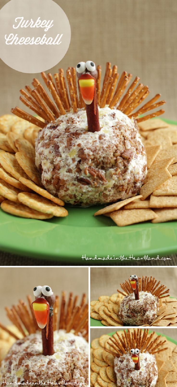 Thanksgiving Turkey Cheeseball - 16 Creative Ideas to Serve Food for Thanksgiving Day