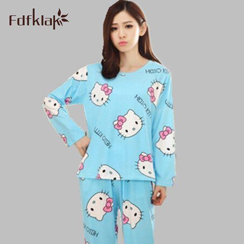 Spring Autumn cartoon pajamas home clothes for women pyjama set animal tracksuit for women 2016 New winter pijama Q0154