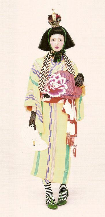 Kimono-hime issue 9. Fashion shoot page 3. Via Satomi Grim of Flickr