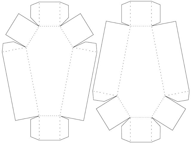 Happy halloween coffin box template design plan and size