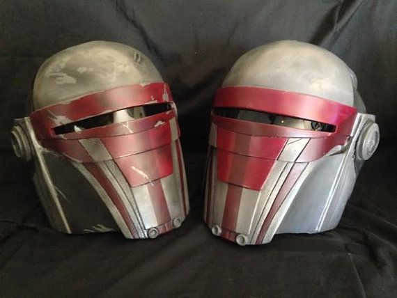 Up for sale is a custom made Revan Helmet. Cold cast with aluminum and a heavy urethane resin, this helmet is hand painted with brush and airbrush,