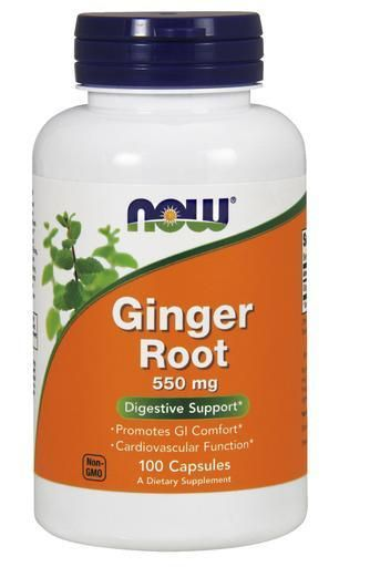 NOW Ginger Root 550 mg, 100 Capsules | Digestive Support | Supplements | Gun Barrel Vitamin Store