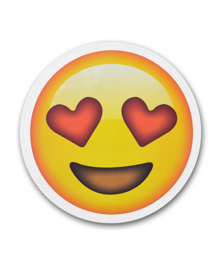 "8"" Emoji Heart Eyes Sticker"