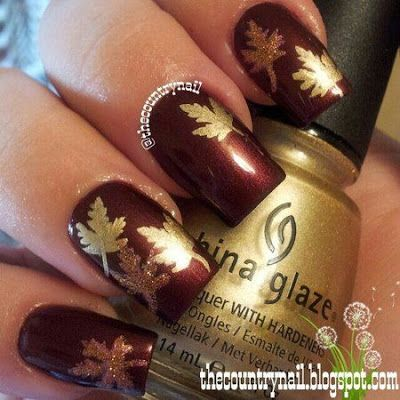 Fall Nail Designs Nails Pinterest Autumn Nails Makeup And