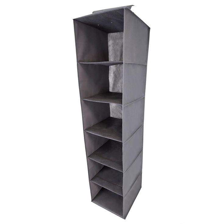 6-Compartment Hanging Organizer, Grey
