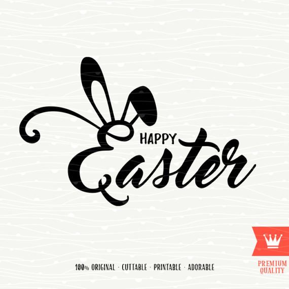 6594401e0885b Happy Easter SVG Decal Cutting File Happy Easter Bunny Ears Spring ...