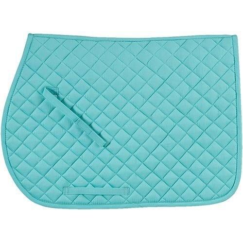 Tiffany Blue Quilted Cotton Saddle Pad Saddle Pads Saddle Pads English English Horse Tack