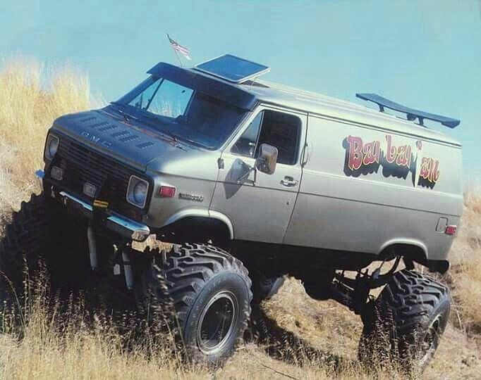 Gmc Van Gmc Vans Lifted Van Cool Trucks