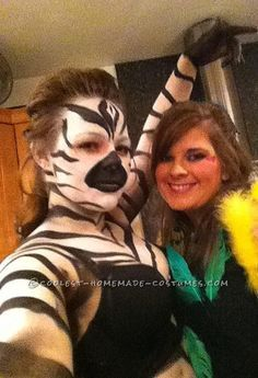 Get you stripes on for Halloween, take look at this easy homemade Zebra costume.