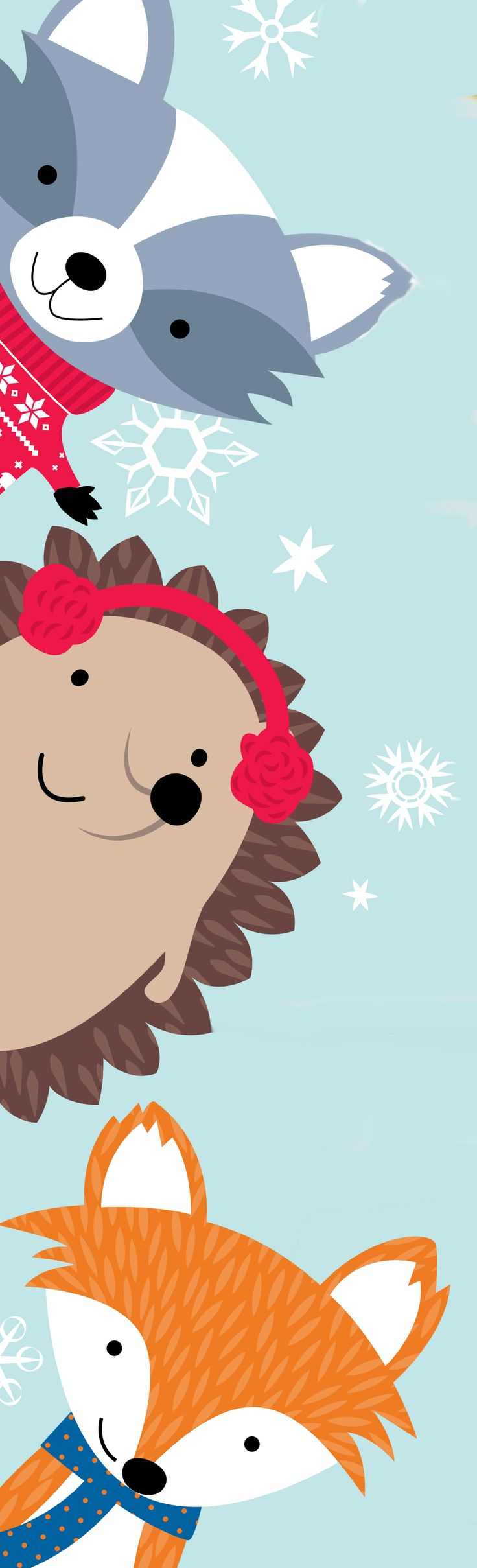 Check out our Winter Woodland Friends! Meet the squirrel, fox, raccoon, owl and hedgehog.