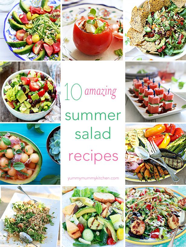 Mexican Salad and 10 Best Summer Salad Recipes  | Yummy Mummy Kitchen | A Vibrant Vegetarian Blog